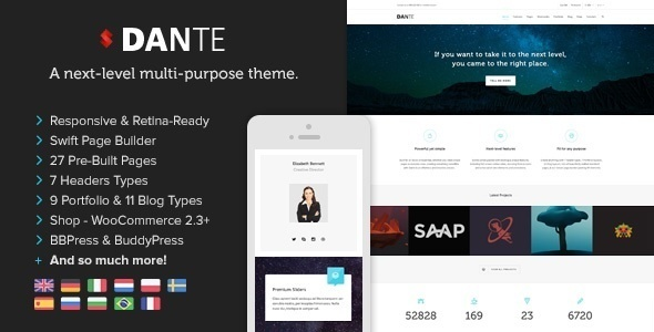 Download Dante  - Responsive Multi-Purpose WordPress Theme Free
