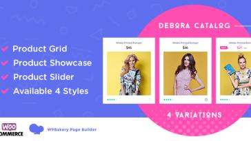 Download Debora WooCommerce Product Showcase For WPBakery Page Builder - Free Wordpress Plugin
