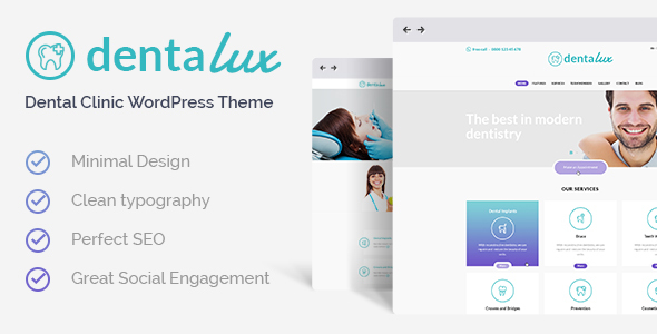 Download Dentalux - A Dentist Medical & Healthcare WordPress Theme Free