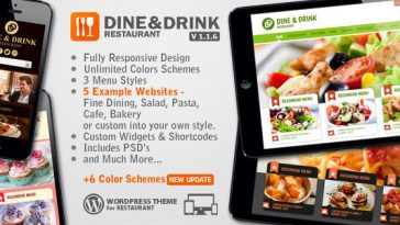 Download Dine & Drink - Restaurant WordPress Theme Free