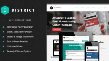 Download District - Responsive Multi-Purpose Theme Free