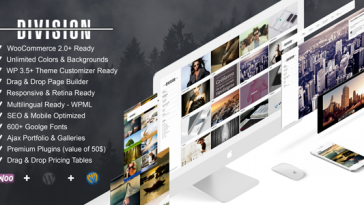 Download Division v.2.9.7 - Fullscreen Portfolio Photography Theme Free