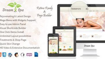 Download Dream Spa v.4.9.8 - Salon, Spa WordPress Theme Free