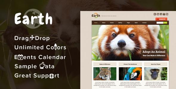 Download Earth  - Eco/Environmental NonProfit WordPress Theme Free