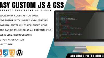 Download Easy Custom JS and CSS Extra Customization for WordPress - Free Wordpress Plugin