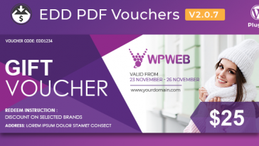 Download Easy Digital Downloads PDF Vouchers - Free Wordpress Plugin