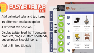 Download Easy Side Tab Pro Responsive Floating Tab Plugin For Wordpress - Free Wordpress Plugin