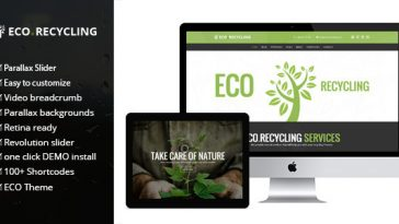Download Eco Recycling - Ecology & Nature WordPress Theme Free