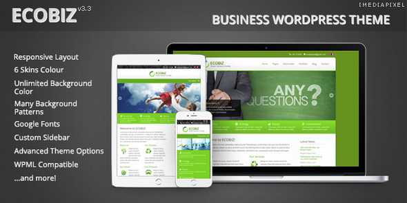 Download ECOBIZ  - Business WordPress Theme Free