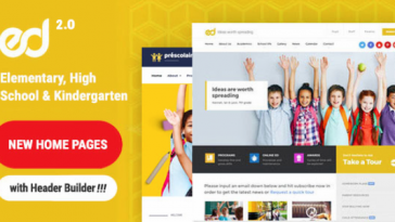 Download Ed School v.2.0.0 - Education, Elementary-High School WordPress Theme Free
