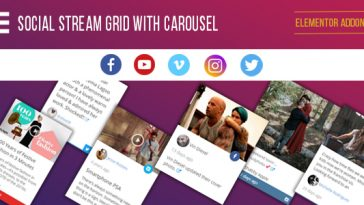 Download Elementor Page Builder Social Stream Grid With Carousel - Free Wordpress Plugin