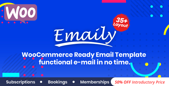 Download Emaily WooCommerce Responsive Email Template + Subscriptions + Bookings + Memberships Compatible - Free Wordpress Plugin