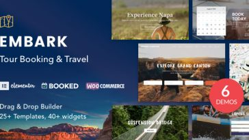 Download Embark - Tour Booking & Travel WordPress Theme Free