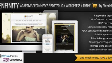 Download Enfinity - Adaptive Ecommerce Portfolio WP theme Free