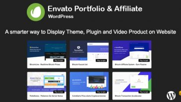 Download Envato Portfolio and Affiliate for WordPress  - Free Wordpress Plugin