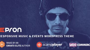 Download Epron v.5.4.7 - Responsive Music & Events WordPress Theme Free