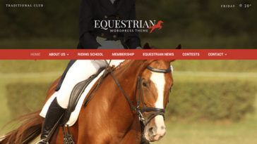 Download Equestrian v.3.0 - Horses and Stables WordPress Theme Free