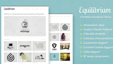 Download Equilibrium - Clean and Modern WP Portfolio Theme Free
