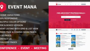 Download Event Management v.1.8.1 - WordPress Theme Free