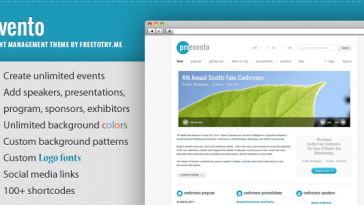Download Evento - Event Management WordPress Theme Free