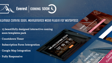 Download Everest Coming Soon Ultimate Coming Soon, Maintenance Mode Plugin for WordPress - Free Wordpress Plugin