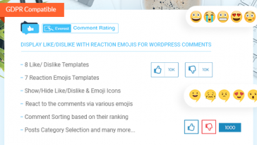 Download Everest Comment Rating Display Like/Dislike With Reaction Emojis For WordPress Comments - Free Wordpress Plugin