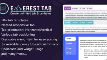 Download Everest Tab Responsive Tab Plugin For WordPress - Free Wordpress Plugin