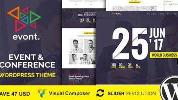 Download Evont - Event And Conference WordPress Theme Free