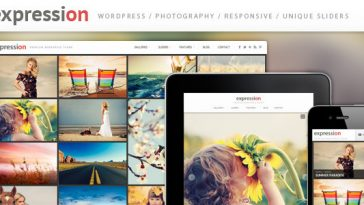 Download Expression - Photography Responsive WordPress Theme Free