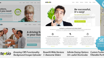 Download Extensio - Elegant and Minimal Business WordPress Free