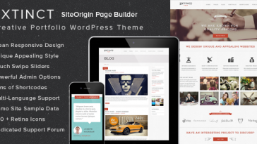 Download Extinct - Retro Vintage Portfolio WordPress Theme Free