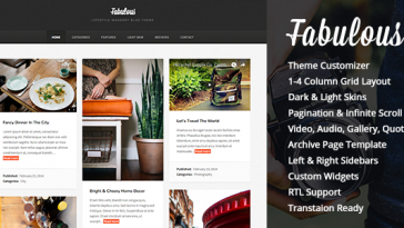 Download Fabulous - Responsive Masonry Blog WordPress Theme Free