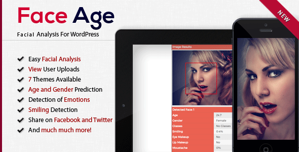 Download Face Age WordPress Age, Gender, Emotion, Smile, Hair, Glasses and Makeup Detection - Free Wordpress Plugin