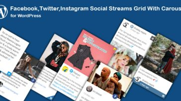 Download Facebook,Twitter,Instagram Social Stream Grid With Carousel for WordPress  - Free Wordpress Plugin