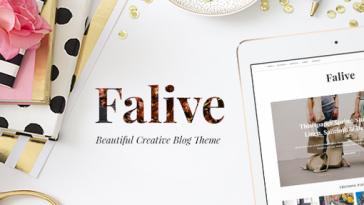 Download Falive - Beautiful Creative & Fashion Blog Theme Free