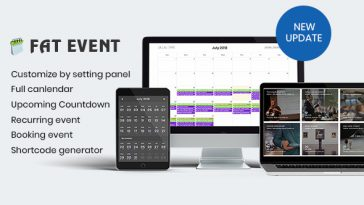 Download FAT Event WordPress Event and Calendar Booking - Free Wordpress Plugin