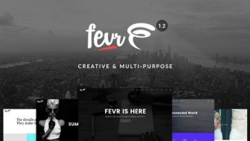 Download Fevr - Creative MultiPurpose Theme Free
