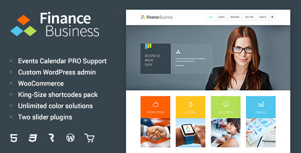 Download Finance Business  - Company Office Corporate Theme Free