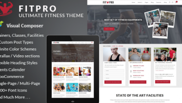 Download FitPro - Events Fitness Gym Sports WordPress Theme Free