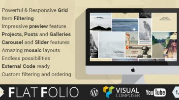 Download FlatFolio Flat & Cool WP Portfolio for Visual Composer - Free Wordpress Plugin