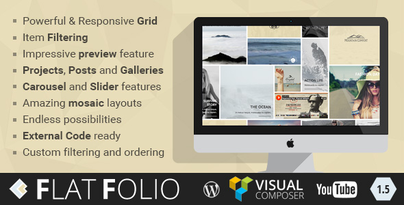 Download FlatFolio Flat & Cool WP Portfolio for Visual Composer - Free Wordpress Plugin