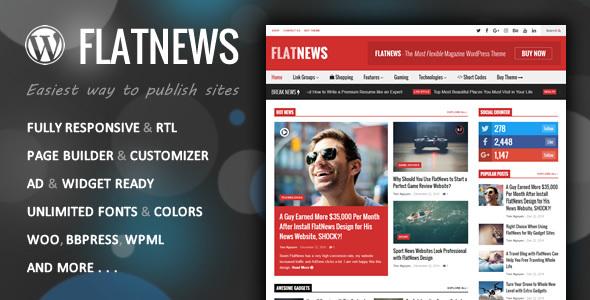 Download FlatNews - Responsive Magazine WordPress Theme Free