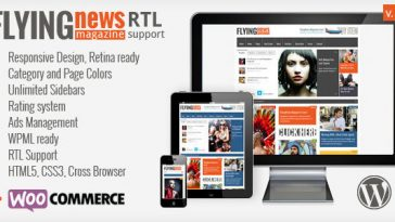Download FlyingNews - Responsive Magazine Theme Free