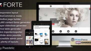 Download Forte - Multipurpose WP Theme (WooCommerce Ready) Free