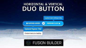 Download Fusion Builder Horizontal & Vertical Duo Button Element Add-on for Avada v5  - Free Wordpress Plugin
