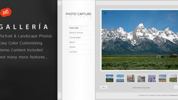 Download Galleria v.4.3 - Photography and Portfolio Theme Free