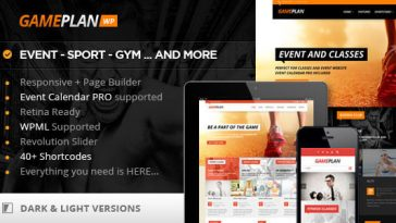 Download Gameplan - Event and Gym Fitness WordPress Theme Free