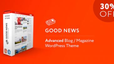 Download GoodNews - Blog & Magazine WordPress Theme Free