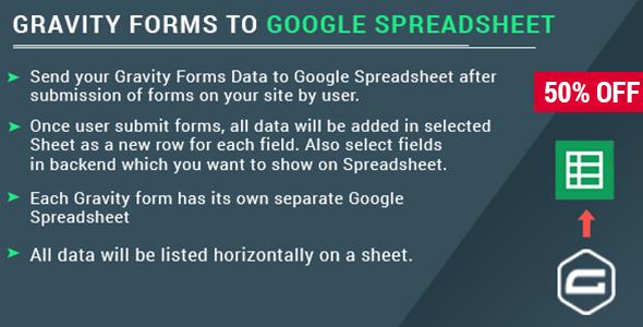 Download Gravity Form with Google Spreadsheet  - Free Wordpress Plugin