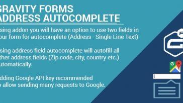 Download Gravity Forms Address Google Autocomplete  - Free Wordpress Plugin